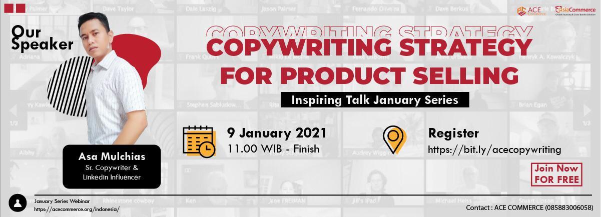 copywriting strategy webinar poster